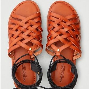 American Eagle Strappy Tie Up Sandals